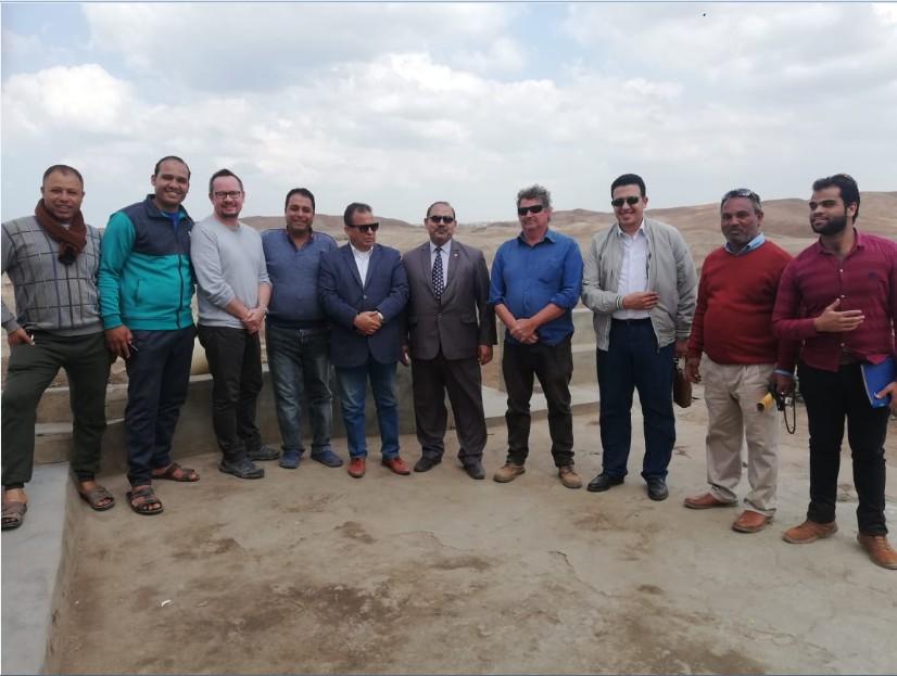 قام الأستاذ الدكتور/  إبراهيم القلا عميد الكلية بزيارة البعثة الفرنسية العامله بمنطقة آثار صان الحجر