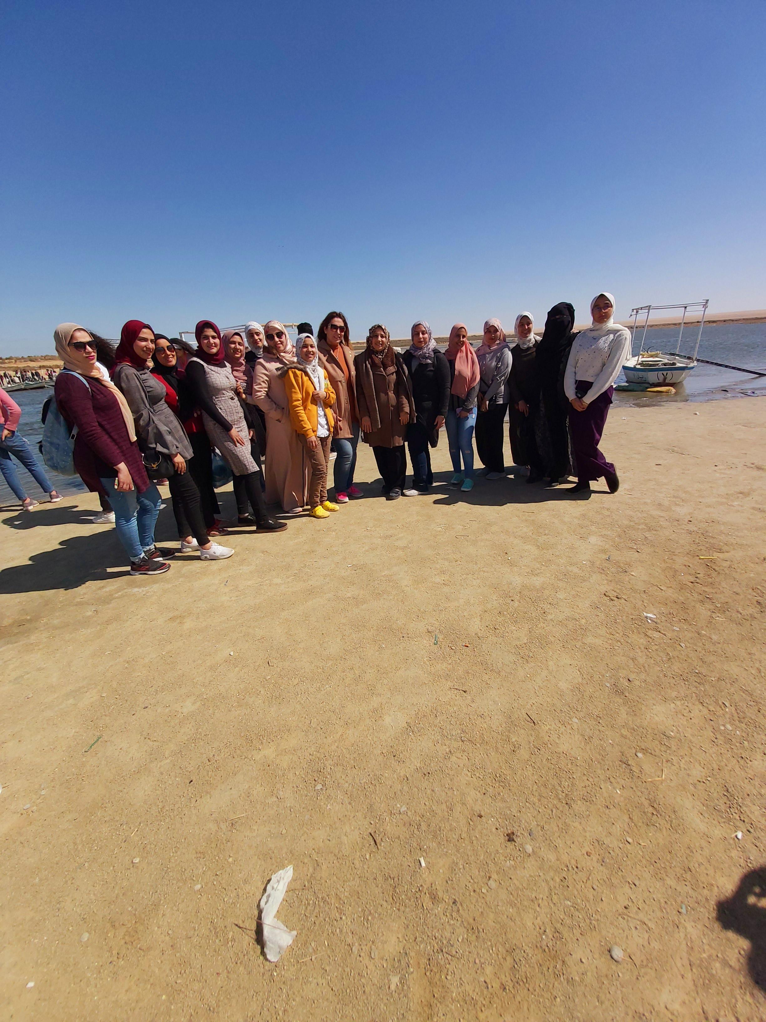 اللجنة الاجتماعية بأتحاد طالبات الكلية تنظم رحلة الى مدينة الفيوم وشلالات وادى الريان ومول مصر والحسين