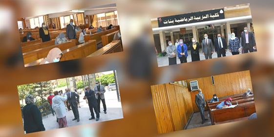 قام الاستاذ الدكتور/ عثمان شعلان رئيس الجامعة بزيارة الى كليتنا لتفقد لجان الامتحانات