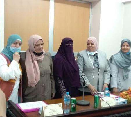 مناقشة رسالة الماجستير للطالبة اسماء محمد معيدة بقسم تمريض الباطنة والجراحةيوم الاربعاء الموافق 4 -11-2020