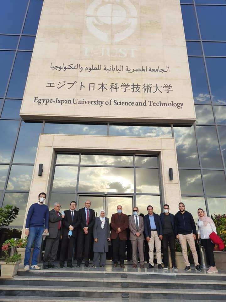 زيارة كلية الهندسة جامعة الزقازيق الي الجامعة المصرية اليابانية للعلوم والتكنولوجيا