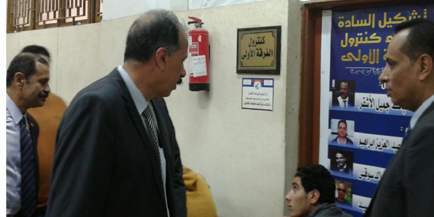 زيارة نائب رئيس جامعة الزقازيق لشئون التعليم والطلاب يتابع أعمال الامتحانات بكلية التربية الرياضية للبنين