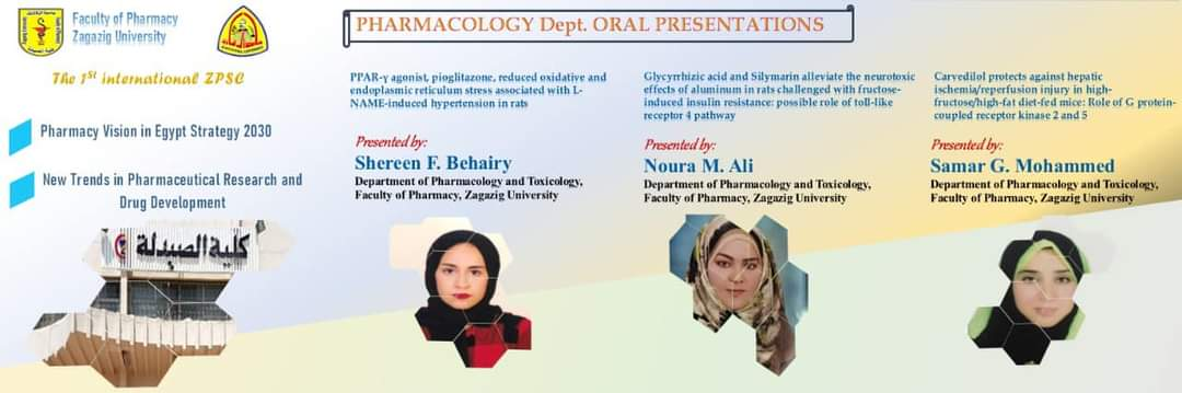 Pharmacology department oral presentations at the 1st international ZPSC