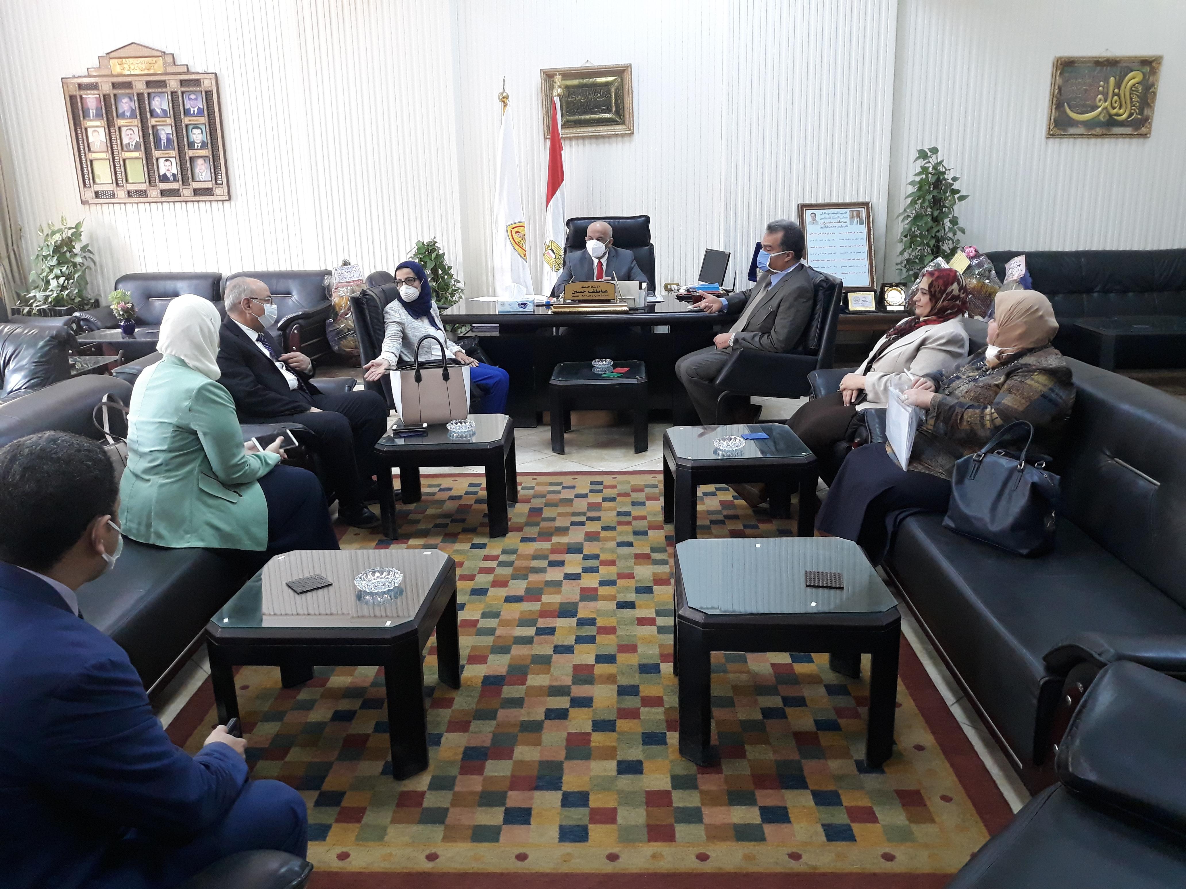 بدء فعاليات الزيارات الميدانية لأعضاء الهيئة القومية لضمان جودة التعليم والإعتماد في كلية الطب البشري جامعة الزقازيق