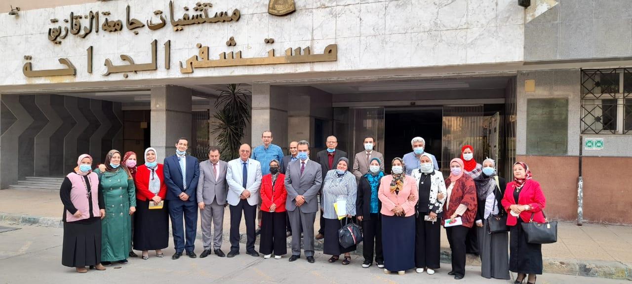 ختام فعاليات زيارة الهيئة القومية لضمان جودة التعليم والاعتماد لكلية الطب البشري جامعة الزقازيق