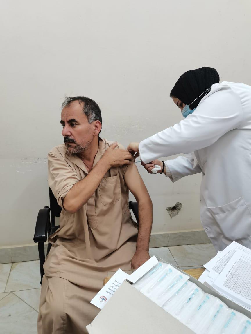 بدء حملة التطعيم ضد فيروس كورونا اليوم السبت الموافق ١٤/ ٨/ ٢٠٢١ بكلية التمريض