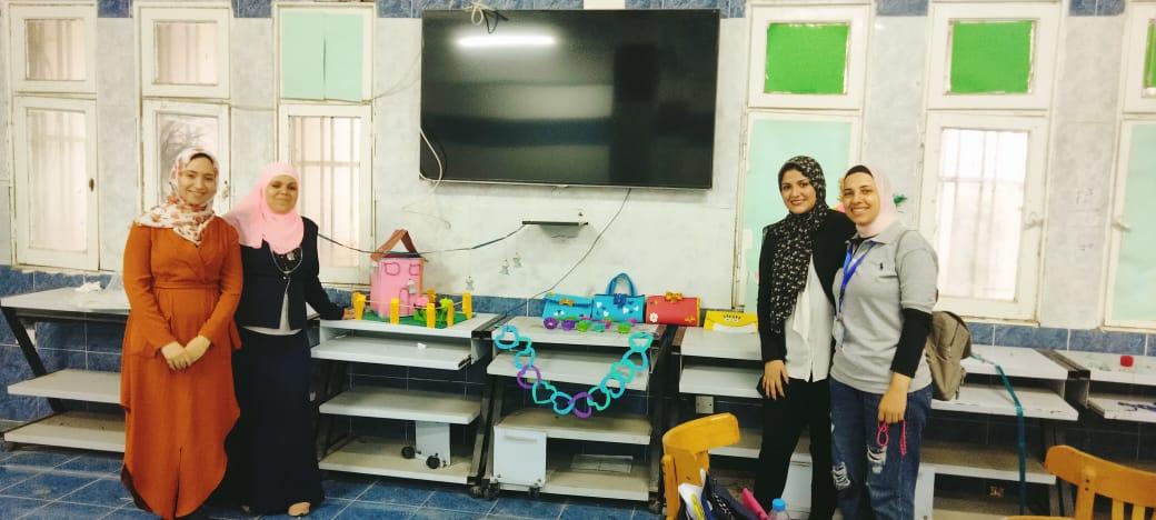 فعاليات مشاركة كلية التربية للطفولة المبكرة الفوج الثالث بمعسكر اعداد القادة الخامس ( طلاب من أجل البناء والتعمير )