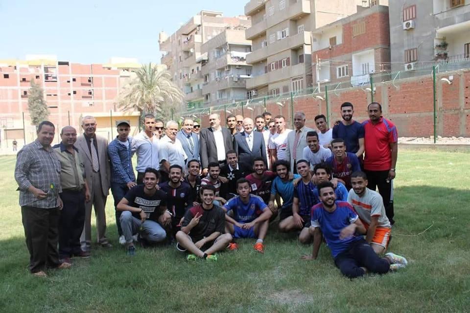 زيارة معالى الوزير رئيس الجامعه للكليه لإفتتاح الفعاليات الرياضيه والإجتماعيه