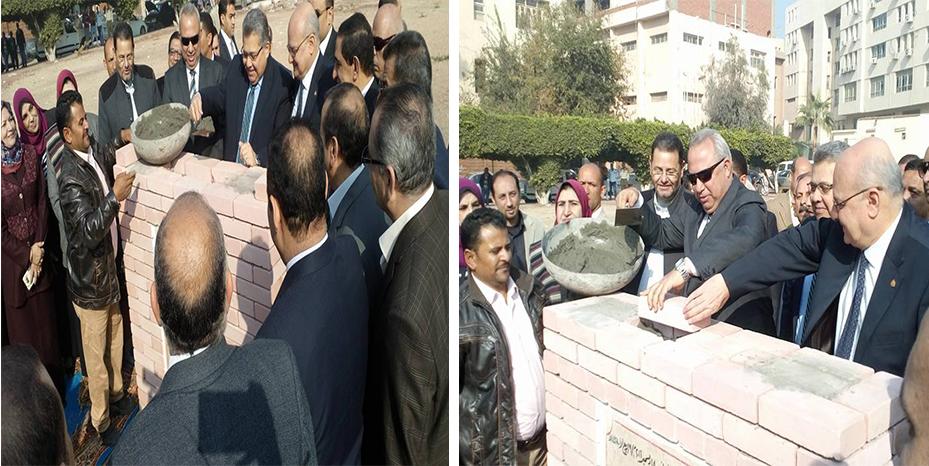 وزير التعليم العالى يضع حجر الأساس لكلية طب الأسنان بجامعة الزقازيق